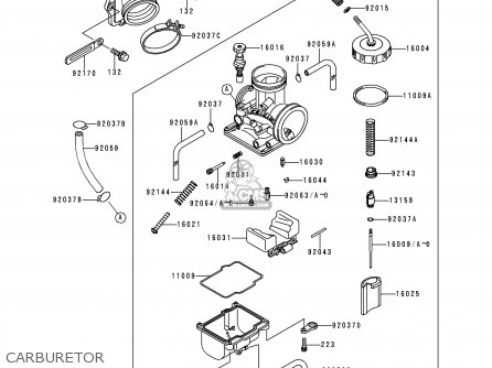 Kawasaki 1995 H1: Kdx200 parts list partsmanual partsfiche