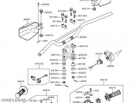 Kawasaki 1995 H1: Kdx200 (north America) parts list