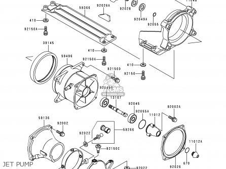 Kawasaki 1996 A2: Jh900 (north America) parts list