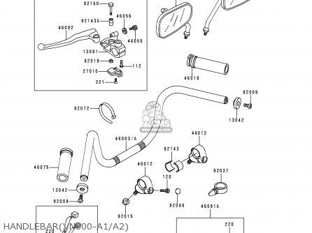 Kawasaki 1996 A2: Vn800 (north America) parts list