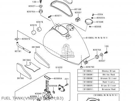 Kawasaki 1996 B1: Vn800 parts list partsmanual partsfiche