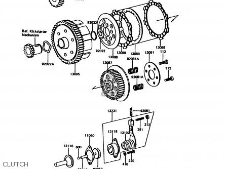 Kawasaki 1996 B15: Ke100 parts list partsmanual partsfiche