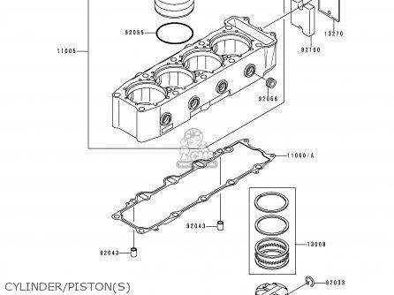 Kawasaki 1996 B3: Zx900 parts list partsmanual partsfiche