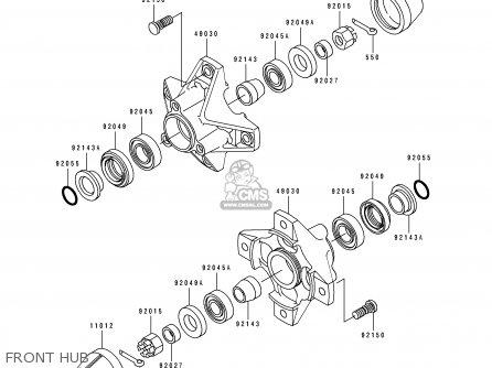 Kawasaki 1996 B9: Klf300 parts list partsmanual partsfiche