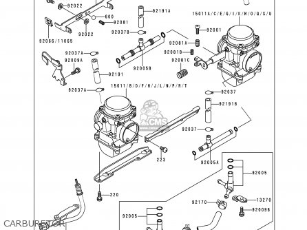 Kawasaki 1996 C1: En500 parts list partsmanual partsfiche