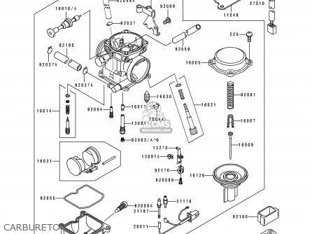 Kawasaki 1996 C2: Bj250 parts list partsmanual partsfiche