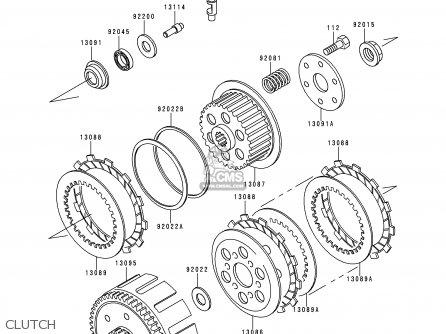 Kawasaki 1996 D4: Klx250 parts list partsmanual partsfiche