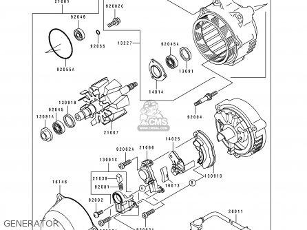 Kawasaki 1996 D4: Zx1100 parts list partsmanual partsfiche