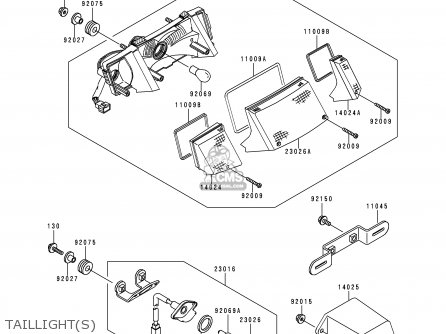 Kawasaki 1996 F10: Ex250 (north America) parts list