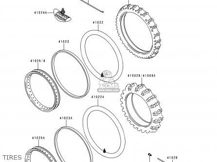 Kawasaki 1996 H2: Kdx200 parts list partsmanual partsfiche