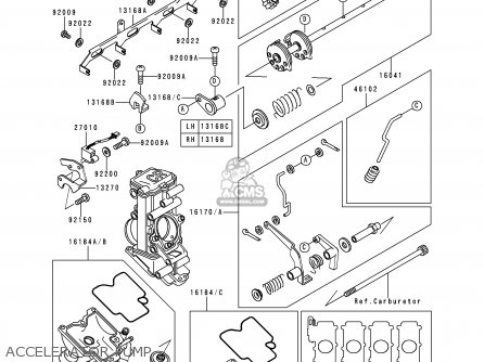 Kawasaki 1996 N1: Zx750 parts list partsmanual partsfiche