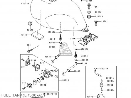 Kawasaki 1997 A1: Er500 parts list partsmanual partsfiche