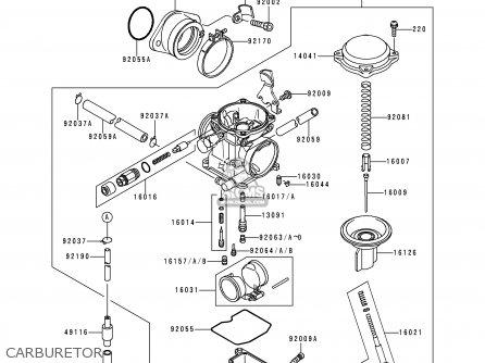 Kawasaki 1997 B10: Klf300 (north America) parts list