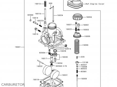 Kawasaki 1997 B16: Ke100 (north America) parts list