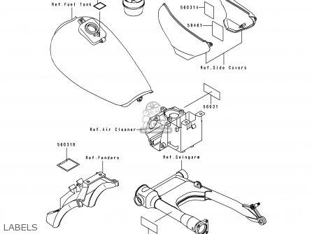 Kawasaki 1997 B3: Zl600 (north America) parts list