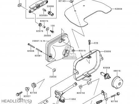 Kawasaki 1997 C1: Zr1100 parts list partsmanual partsfiche