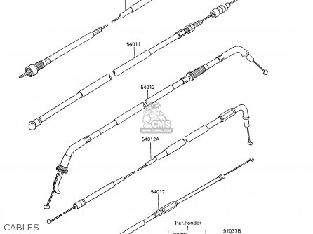 Kawasaki 1997 C10: Zx600 parts list partsmanual partsfiche