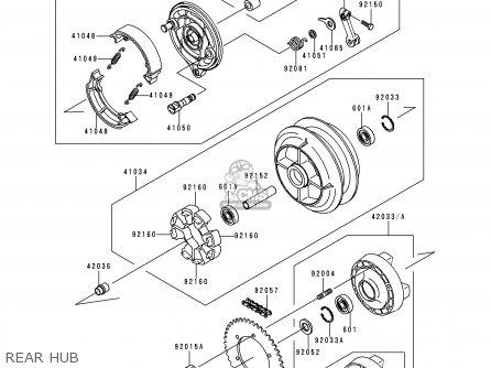 Kawasaki 1997 C2: En500 parts list partsmanual partsfiche