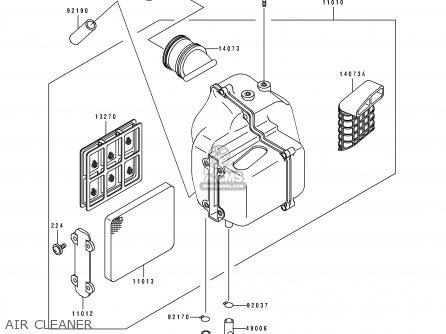 Kawasaki 1997 C3: Bj250 parts list partsmanual partsfiche