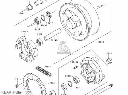 Kawasaki 1997 D2: Zr750 parts list partsmanual partsfiche