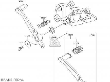 Kawasaki 1997 E4: Ex500 parts list partsmanual partsfiche