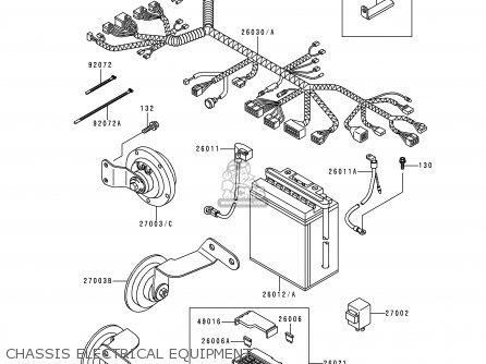 Kawasaki 1997 F3: El250 parts list partsmanual partsfiche