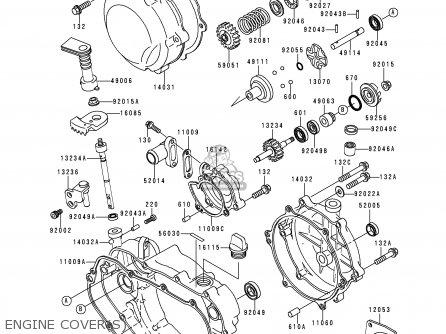 Kawasaki 1997 H3: Kdx200 (north America) parts list