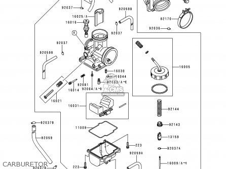 Kawasaki 1997 K4: Kx125 parts list partsmanual partsfiche