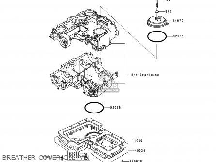 Kawasaki 1997 P16: Kz1000 (north America) parts list