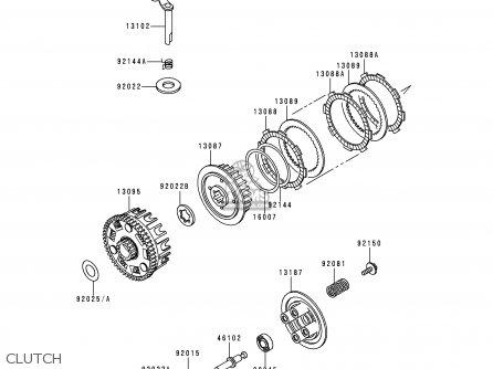 Kawasaki 1998 A1: Bn125 parts list partsmanual partsfiche