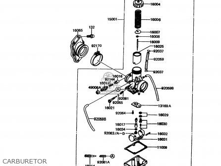 Kawasaki 1998 A11: Kmx125 parts list partsmanual partsfiche