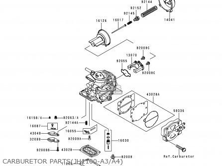 Kawasaki 1998 A3 Jh1100 north America Carburetor