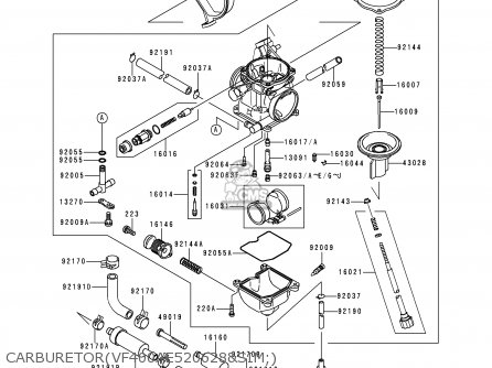 Kawasaki 1998 B1: Kvf400 (north America) parts list