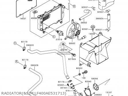 Kawasaki 1998 B6: Klf 400 parts list partsmanual partsfiche