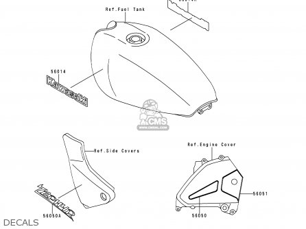 Kawasaki 1998 B9: Zr550 parts list partsmanual partsfiche