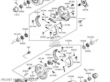 Kawasaki 1998 C2: Kaf300 (north America) parts list