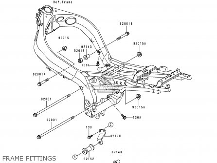 Kawasaki 1998 D1: Zx900 parts list partsmanual partsfiche