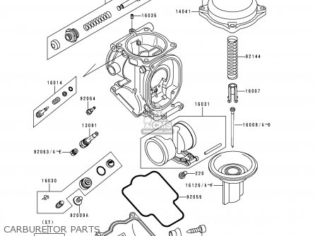 Kawasaki 1998 D6: Zx1100 parts list partsmanual partsfiche
