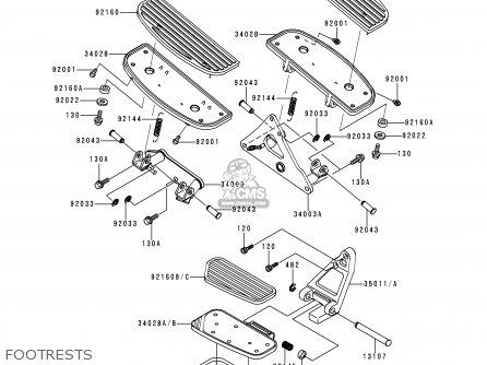 Kawasaki 1998 G1: Vn1500 parts list partsmanual partsfiche