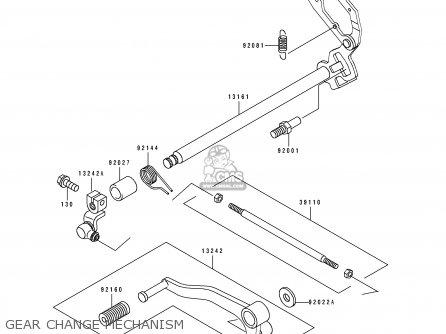 Kawasaki 1998 H9: Ex250 parts list partsmanual partsfiche