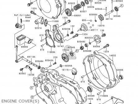 Kawasaki 1998 K5: Kx125 (north America) parts list