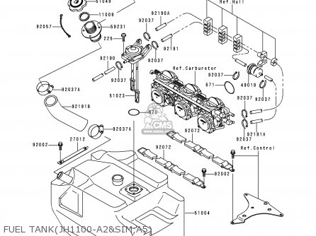 Kawasaki 1999 A4: Jh1100 (north America) parts list