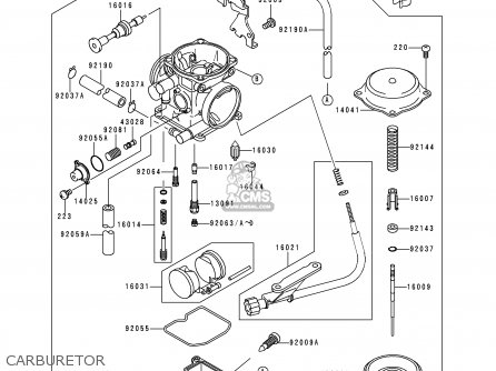Kawasaki 1999 A4: Klx300 parts list partsmanual partsfiche