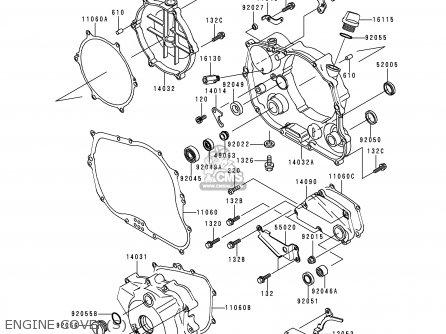 Kawasaki 1999 A4: Klx300 parts list partsmanual partsfiche
