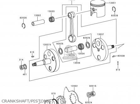 Kawasaki 1999 B18: Ke100 (north America) parts list
