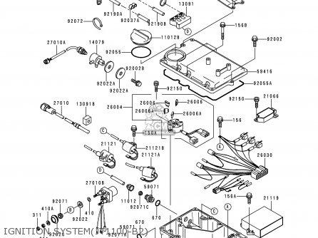 Kawasaki 1999 B2: Jt1100 (north America) parts list