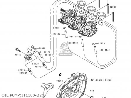 Kawasaki 1999 B2: Jt1100 (north America) parts list