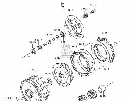 Kawasaki 1999 C2: Kx100 parts list partsmanual partsfiche