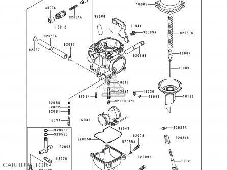 Kawasaki 1999 D16: Kl250 parts list partsmanual partsfiche