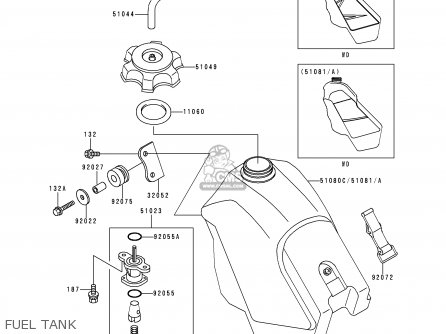 Kawasaki 1999 E11: Kx500 parts list partsmanual partsfiche